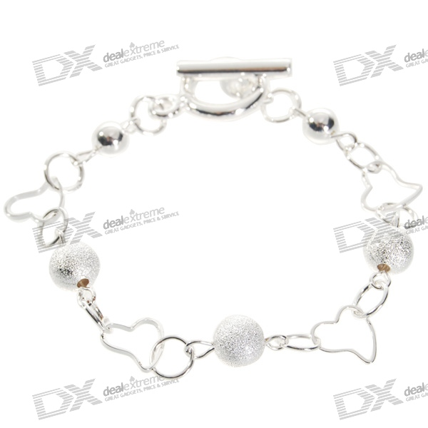 925 Sterling Silver Hearts Bracelet (18cm) sterling silver ear thread
