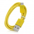 V8 Micro USB Male to USB Male Charging Cable for HTC / Samsung / Motorola - Yellow (100cm)