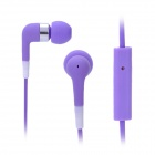 Stylish In-Ear Earphone w/ Microphone for Iphone 3g / 3GS / 4 / 4S / Ipod / Ipad - Purple