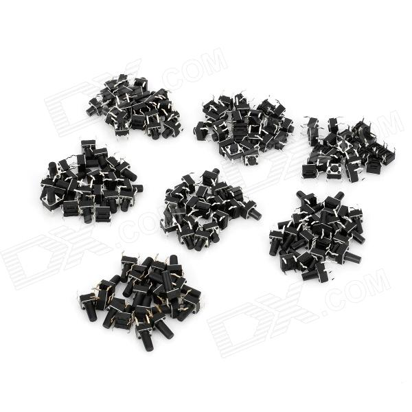 4-Pin Push Tactile Switches (140 PCS) dmiotech 20 pcs electric drill motor carbon brushes 10mm 11mm 13mm 17mm 6mm 7 5mm 7mm 8mm 9mm
