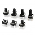 4-Pin Push Tactile Switches (140 PCS)
