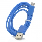 V8 Micro USB Male to USB Male Charging Cable for HTC / Samsung / Motorola - Blue (100cm)