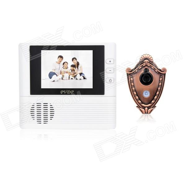 2.8 TFT LCD 300KP Digital Peephole Camera Door Viewer w/ Doorbell / 3X Zoom - White (3 x AAA) dc v100 15mp cmos digital camera w 5x optical zoom 4x digital zoom sd slot pink 2 7 tft