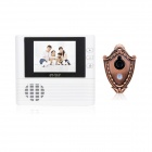 "2.8"" TFT LCD 300KP Digital Peephole Camera Door Viewer w/ Doorbell / 3X Zoom - White (3 x AAA)"