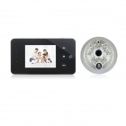 "2.8"" TFT LCD 300KP Digital Photography Camera Door Viewer w/ 2-LED IR Night Vision / 2GB TF - Black"