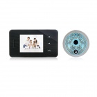 "2.8"" TFT LCD 300KP Digital Peephole Camera Door Viewer w/ Doorbell / 2-LED IR / 3X Zoom - Black"