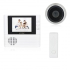 "2.8"" TFT LCD 300KP Digital Peephole Camera Door Viewer w/ Doorbell / Remote Controller / 3X Zoom"