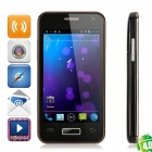 "i3000 Android 4.0 WCDMA Barphone w/ 4.0"" Capacitive Screen, GPS, Wi-Fi and Dual-SIM - Black"