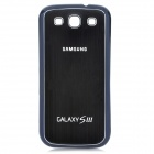 Replacement Wire Drawing Back Battery Cover Case for Samsung i9300 Galaxy S3 - Black