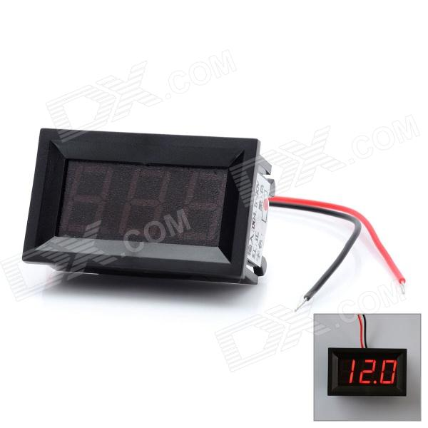 3-Digit Red LED Panel Voltmeter for Car / Electric Motorcycle (DC 4.5~30V) 100 pcs ld 3361ag 3 digit 0 36 green 7 segment led display common cathode