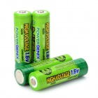 POWERGENIX Rechargeable 4 x 1.6V 2500mWh AA NiZn Batteries - Green
