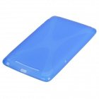 X Style Protective TPU Back Case for Google Nexus 7 - Blue