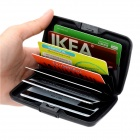 Water Resistant Credit Card Holder Case w/ 7 Slots - Black (Size S)