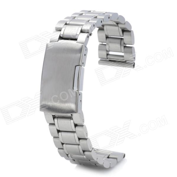 Replacement QGY-20 Stylish Stainless Steel Wrist Watch Band - Silver