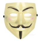 V for Vendetta Anonymous Guy Fawkes Plastic Mask - Yellow + Black