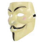 V for Vendetta Mask Fawkes Individuo Anónimo Plástico - Amarillo + Negro