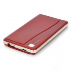 NYF-015 Portable 2500mAh Mobile Power Battery Charger w/ Adapters for iPhone / Samsung - Deep Red