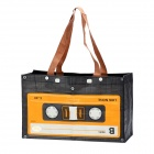 Fashion Compact Cassette Stil Nylon One Shoulder Tasche - Schwarz + Gelb