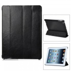 Stylish Protective PU Leather Case w/ Smart Cover for iPad 2 / the New iPad - Black