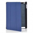 Stylish Protective PU Leather Case for Ipad 2 / the New Ipad - Blue