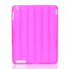 Protective Stripe Pattern TPU Back Case for Ipad 2 / New Ipad - Deep Pink