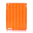 Protective Stripe Pattern TPU Back Case for iPad 2 / New iPad - Orange