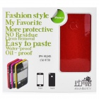 Fashion Glaring Protective Full Body Skin Sticker for iPhone 4 / iPhone 4S - Red Wine
