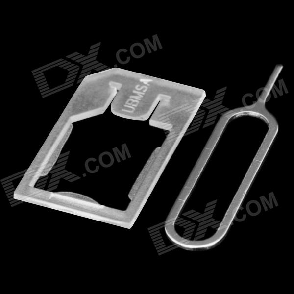 Micro SIM Card Tray Adapter Holder for Iphone 4 / 4S - Translucent White