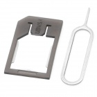 Micro SIM Card Tray Adapter Holder for Iphone 4 / 4S - Translucent Black