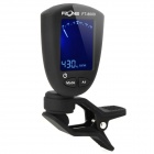 1.1'' LCD Double Color Backlight Clip-On Chromatic Tuner for Guitar / Bass - Black (1 x CR2032)