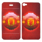The Red Devils Logo Pattern Back + Front Sticker for iPhone 4 / 4S - Red