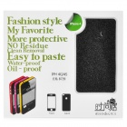 Fashion Glaring Protective Full Body Skin Sticker for iPhone 4 / iPhone 4S - Black
