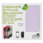 Fashion Glaring Protective Full Body Skin Sticker for iPhone 4 / iPhone 4S - Light Purple