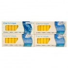 4-in-1 High Nicotine Electronic Cigarette Refills Cartridges - Yellow (40 PCS)