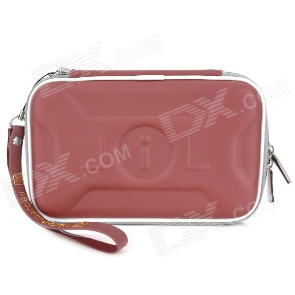 Protective Artificial Leather Bag Pouch for DSiLL/DSiXL - Wine Red