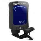 "FT-002C 1.5"" LCD Digital Chromatic Tuner for Violin / Bass / Guitar - Black (1 x CR2032)"