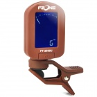 "FT-2000U 1.2"" LCD Digital Chromatic Tuner for Ukulele Clip - Coffee (1 x CR2032)"