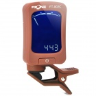 "FT-002C 1.5"" LCD Digital Chromatic Tuner for Violin / Bass / Guitar - Coffee (1 x 2032)"