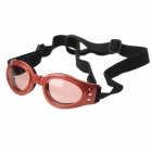 Folding Pet Outdoor Eye Protection Glasses - Red