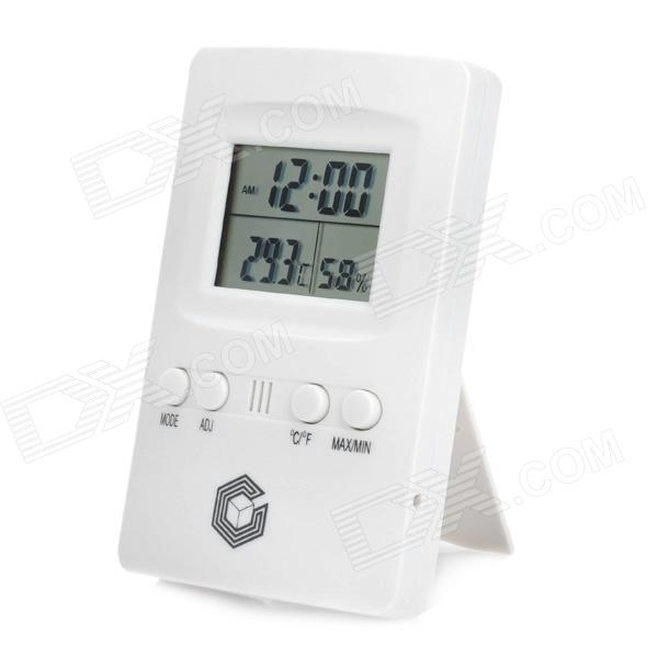 "1.9"" LCD Digital Wall Mount Thermometer Hygrometer - White (1 x AAA)"