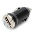 Car Charger Adapter w/ USB Cable for HTC / Samsung / Motorola - Black