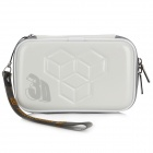 Protective Artificial Leather Bag Pouch for Nintendo 3DS - White