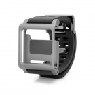 Protective Wrist Watch Band Case for Ipod Nano 6 - Silver + Black