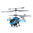 F102 B Updated Version Rechargeable IR Controlled 4-CH Aluminum Alloy R/C Helicopter - Blue + Grey