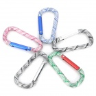 Outdoor Sports Carve Pattern Quick Release Carabineer Hook Set - Random Color (5PCS)