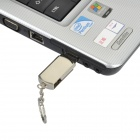 Aluminum Rotation USB 2.0 Flash Drive Keychain - Silver (4GB)
