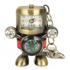 Robot Style USB 2.0 Flash Drive w/ Clock / Compass / Keychain - Bronze (8GB / 1 x 377S)