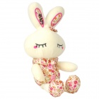 Adorable Plush Sleeping Rabbit Toy - White