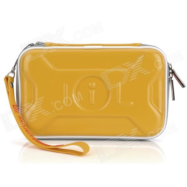 Protective Artificial Leather Bag Pouch for DSiLL/DSiXL - Yellow