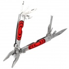 14-in-1 Stainless Steel Multi Tool Hammer - Red + Silver